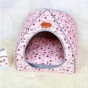cutecatslovers Pink / S 27x27x28cm Soft Cat Bed that is also Warm, Washable Tent, Dirt-resistant