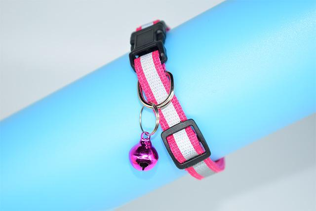 cutecatslovers Pink / S Adjustable Safety Buckle Bell Strap Cat Collar in Multiple Colors