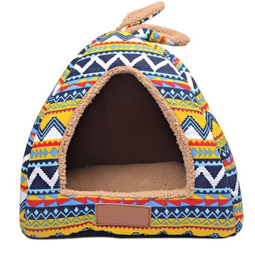 cutecatslovers PK306-FG / L Foldable Dual-use Cat House Warm, Soft, Great resting place for your cat
