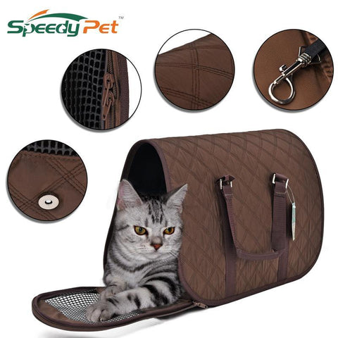 cutecatslovers Portabl Cat Carrier, Breathable Handbag Luxury for Your Cat