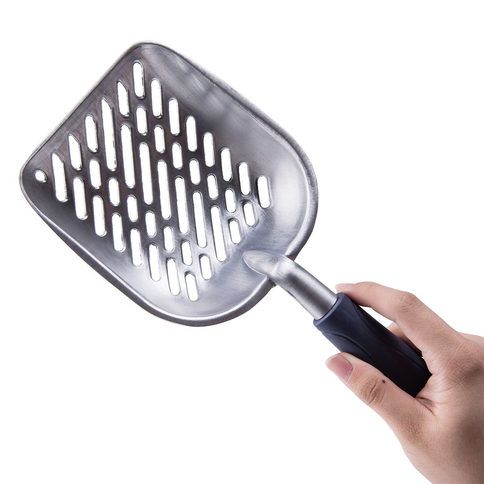cutecatslovers Portable Stainless Steel Cat Litter Box Poop Scoop, Very Durable