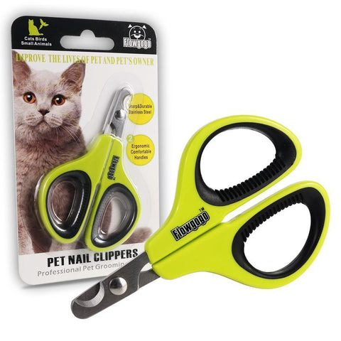 cutecatslovers Professional Stainless Steel Cat Nail Clippers - Cat Friendly