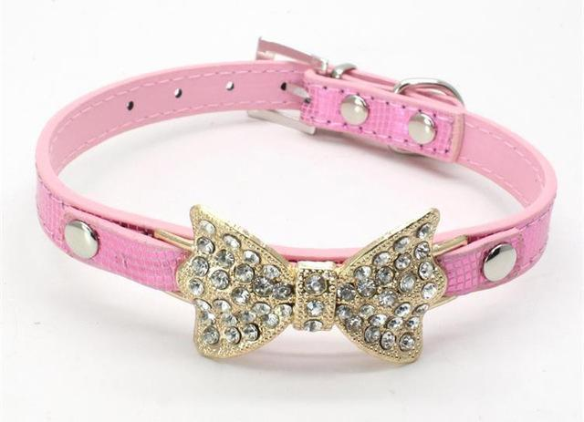 cutecatslovers PU 1 / M Pink Cute Cat Collar that your Cat will Love