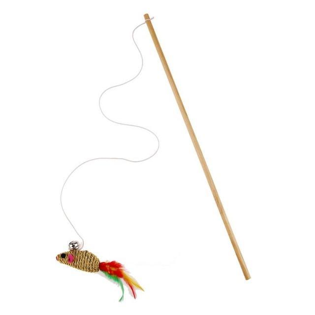 cutecatslovers Random / Rod length 40CM Interactive Cat Toy With Bells and Elastic Rod