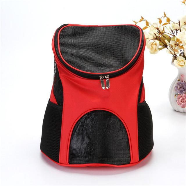cutecatslovers Red Cat Carrier With Cute Design, great for transport and traveling