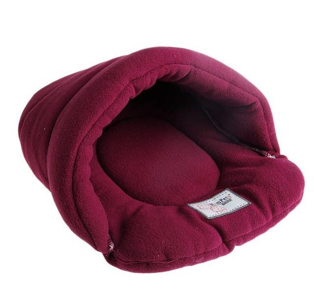 cutecatslovers Red / L Warm, Soft Bed House Plush Cozy Nest For Your Cat