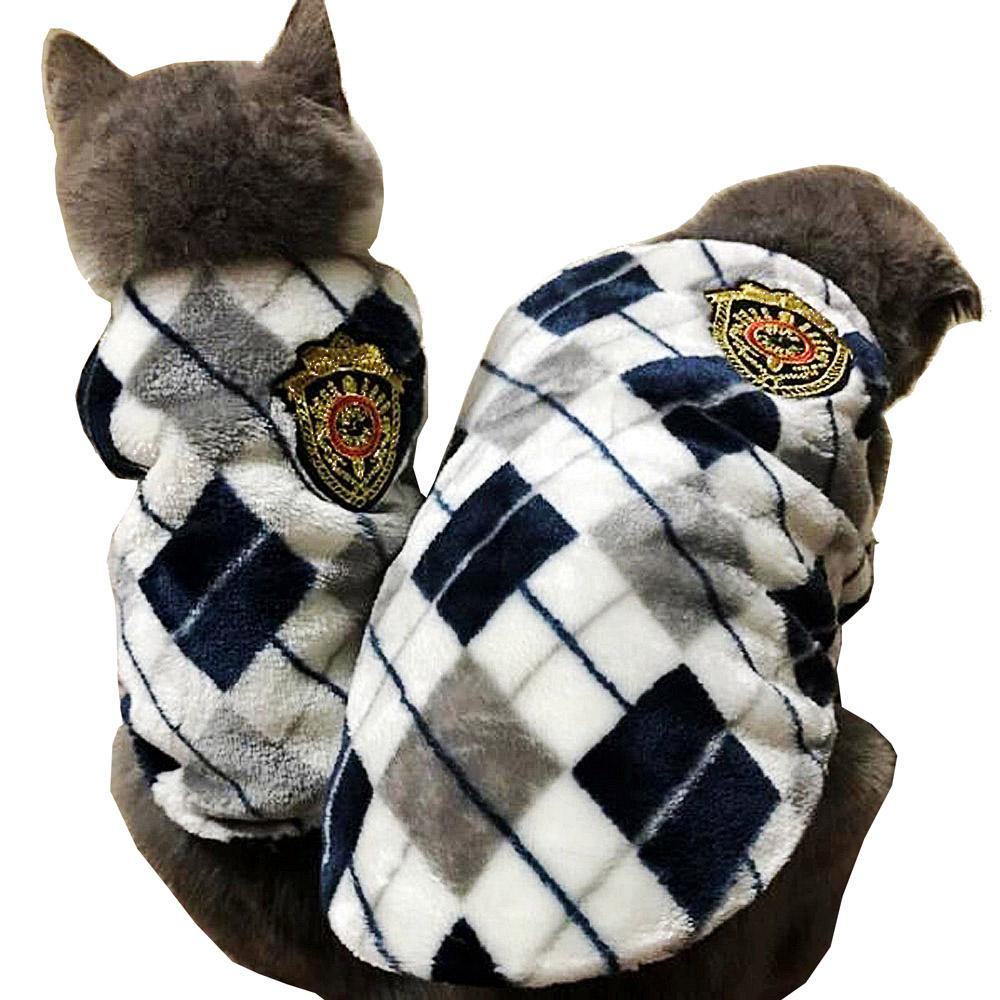 cutecatslovers Red /Yellow /Gray  Autumn Winter Flannel Cat Vest