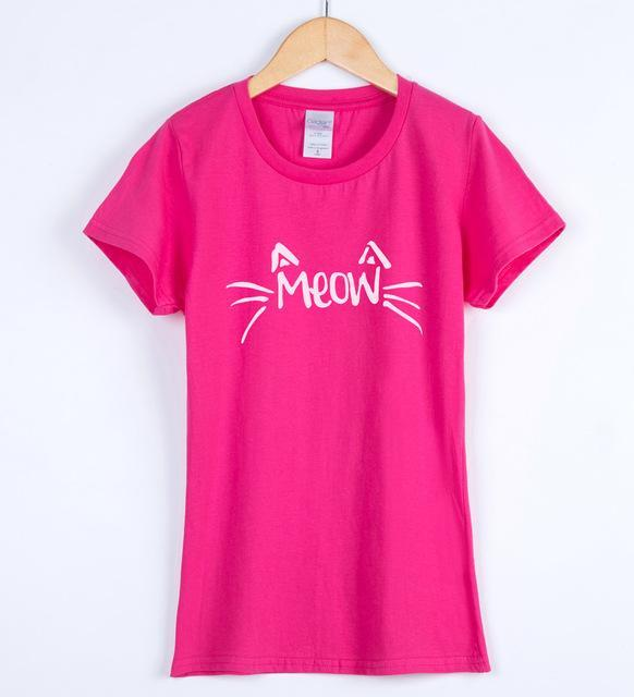 cutecatslovers rose red / S MEOW T-Shirt with Beautiful Design
