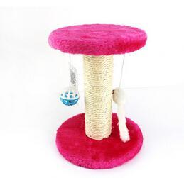 cutecatslovers Rose / XS Cat Scratch Board Training Toy, Tree With Ball For your Cat