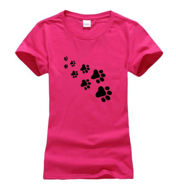 cutecatslovers rosy 1 / S Cat Paws Fashion T-Shirt