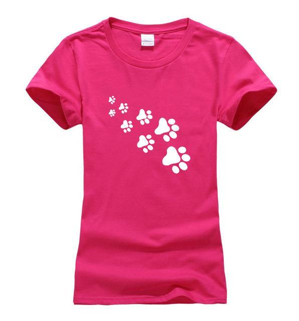 cutecatslovers rosy / S Cat Paws Fashion T-Shirt