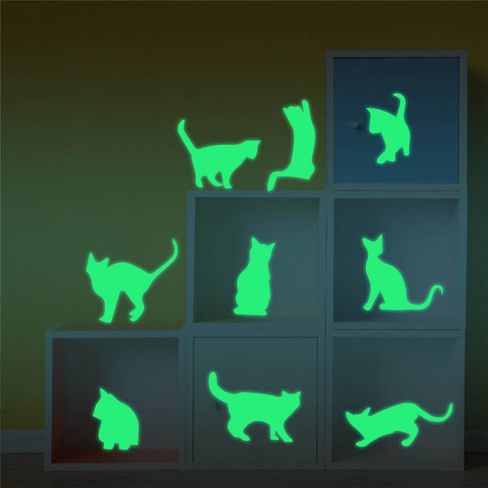 cutecatslovers Set Wall Decorative Cats Luminous Wall Sticker