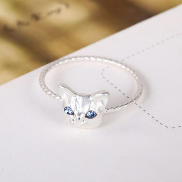 cutecatslovers Silvery Hot Sale Cute Popular Women Ring