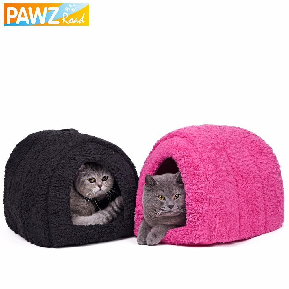 cutecatslovers Soft Cat House for Indoors - Lovely hideout for your Cat