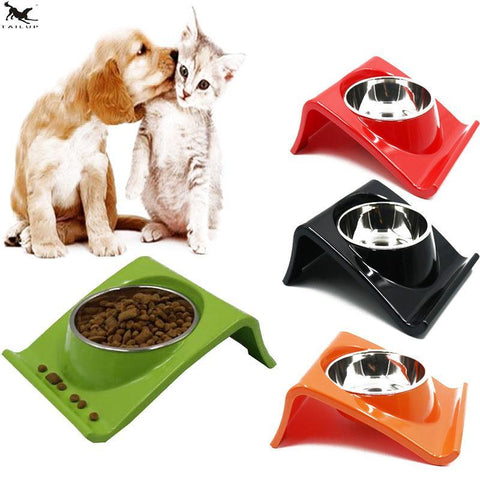 cutecatslovers Stainless Steel Cat Feeding / Watering Bowl - Modern Design