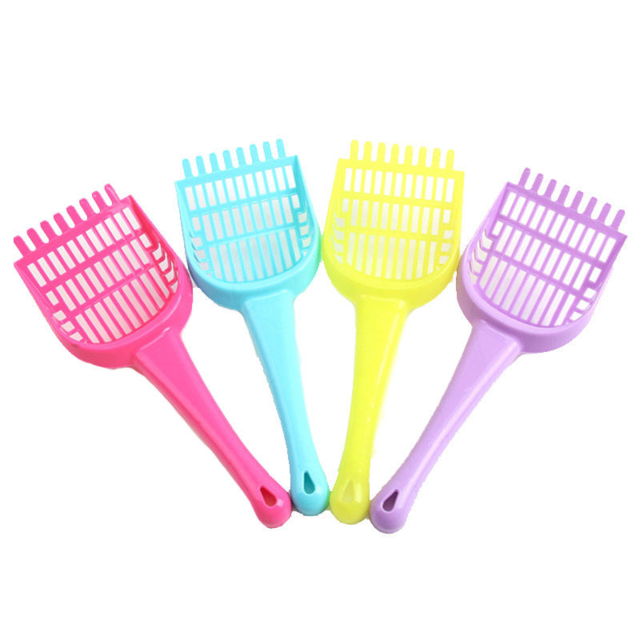 cutecatslovers Style B(color random / as detail shown Pet Litter Box Scooper, Plastic, Cute colors Shovel - Great Cleaning Tool for Litter Box