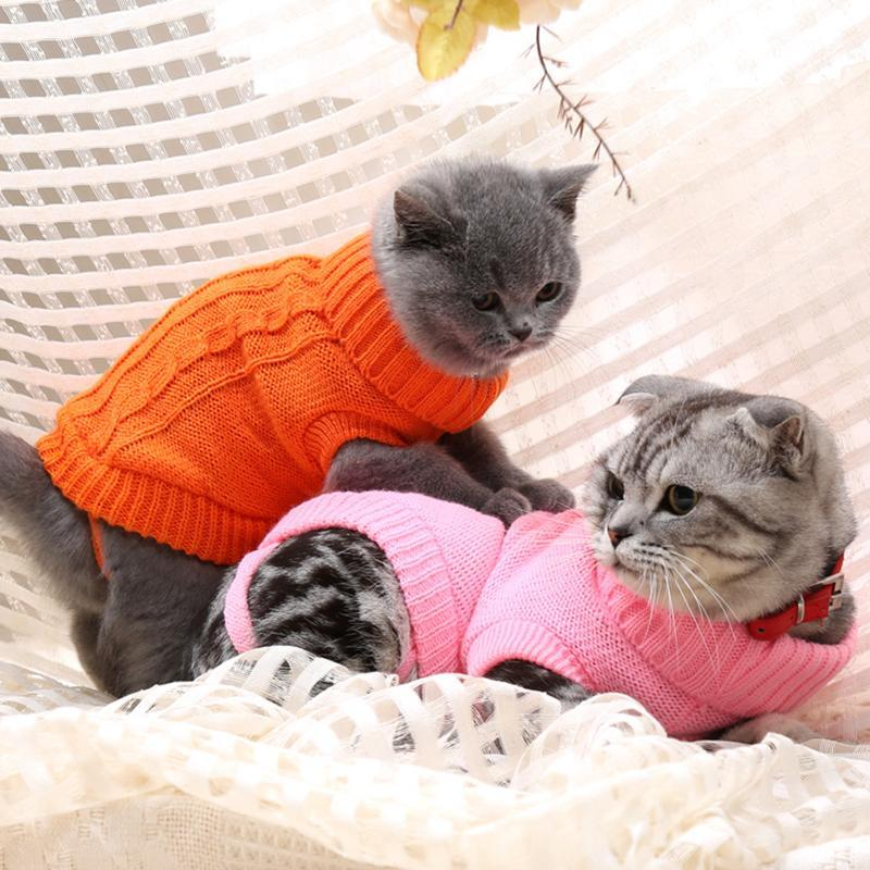 cutecatslovers Sweater for Cats, 9 Choices Of Colors + 6 Sizes For Each Color
