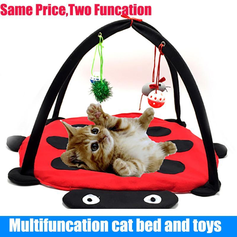 cutecatslovers Two in One - Cat Bed And Playground - The Best Place For your Cat to have a good time