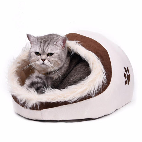 cutecatslovers Warm Paw Style Cat Cave With Lovely Design - Your Cat Will Fall in Love