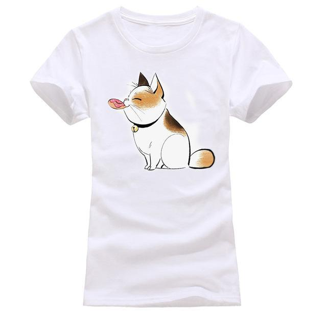 cutecatslovers white 1 / S Cat Looking Out Of T-Shirt