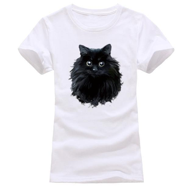 cutecatslovers white 15 / S Cat Looking Out Of T-Shirt