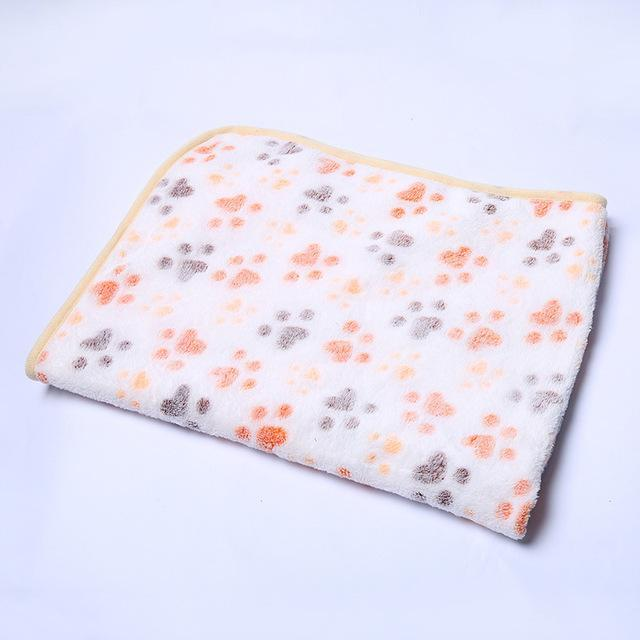 cutecatslovers White / 20 x 20 cm Warm Paw Print Cute Floral Bed Mat for Your Cat