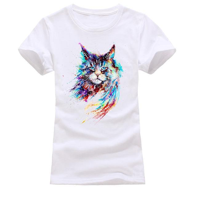 cutecatslovers white 5 / S Cat Looking Out Of T-Shirt