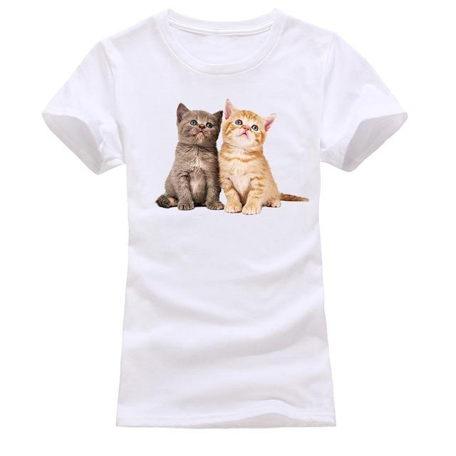 cutecatslovers white 6 / S Cat Looking Out Of T-Shirt