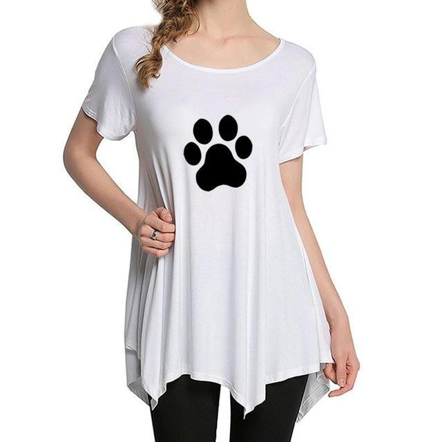 cutecatslovers White / XXL Beautiful Cat Paw T-Shirt is a must have if you Love Cats