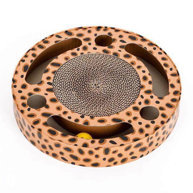 cutecatslovers Yellow / M Cat Toy Rounded Scratcher Multihole with Balls Scratching Post For yOur Cat