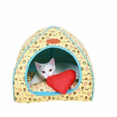 cutecatslovers Yellow / S 27x27x28cm Soft Cat Bed that is also Warm, Washable Tent, Dirt-resistant