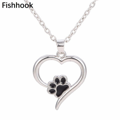 cutecatslovers Zinc Alloy Jewelry Always in my Heart Cat Paw