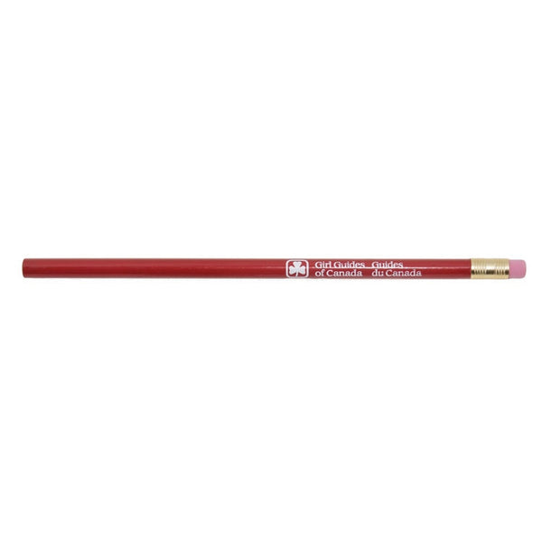 GGC TREFOIL  PENCIL - RED
