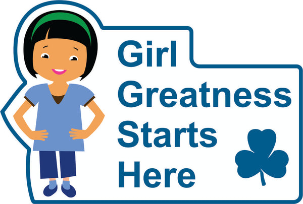 GIRL GREATNESS STARTS HERE CREST