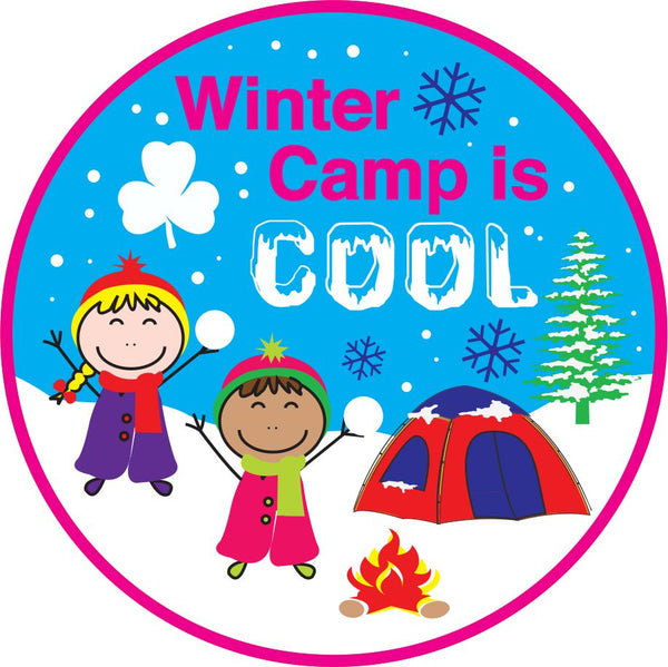CAMPING CREST - WINTER CAMP IS COOL