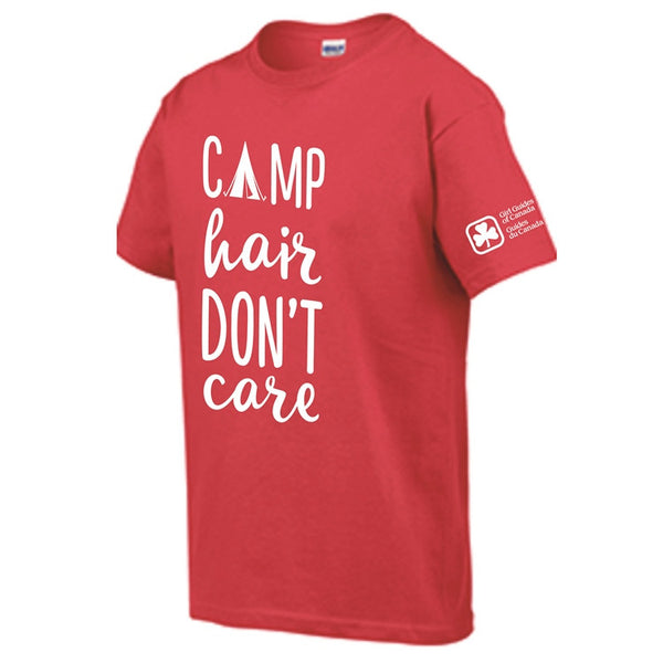 CAMP HAIR DON'T CARE T-SHIRT RED YOUTH