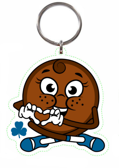 GG Cookie Key Chain - Chocolate