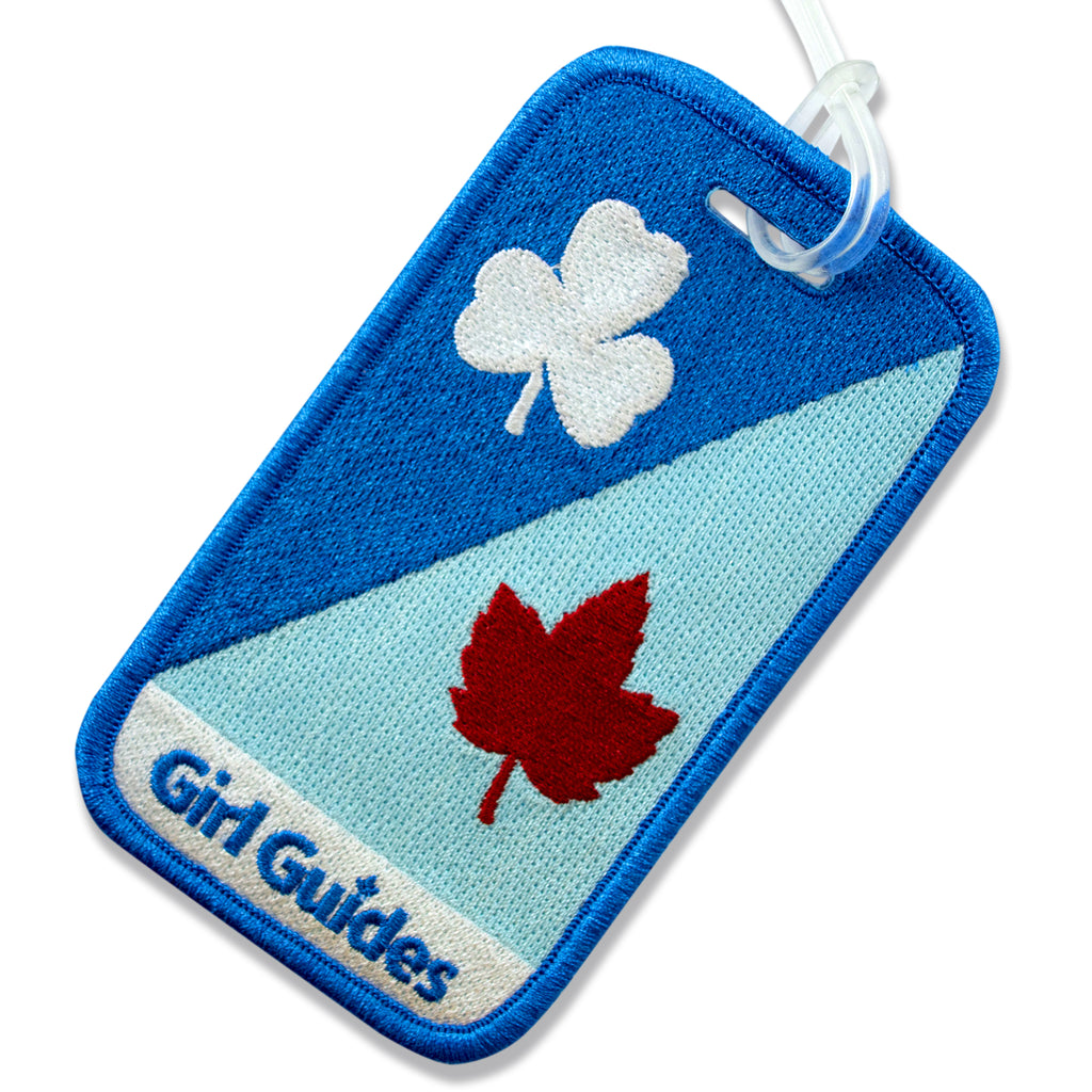 Trefoil and Maple Leaf Luggage Tag