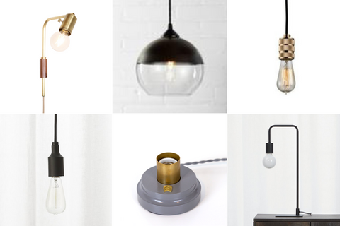 Masculine and modern light fixture styles