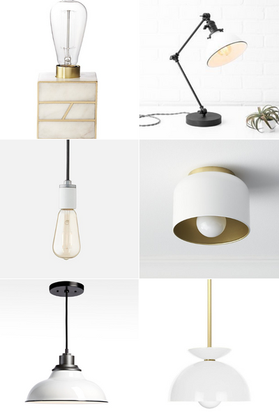 Best White Light Fixtures from pendant to desk lamp