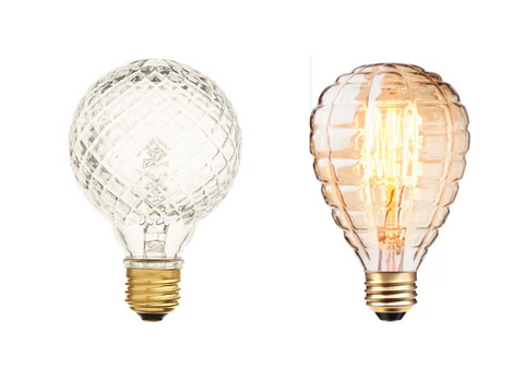 Lighting Trend: Glass Cut Light Bulbs