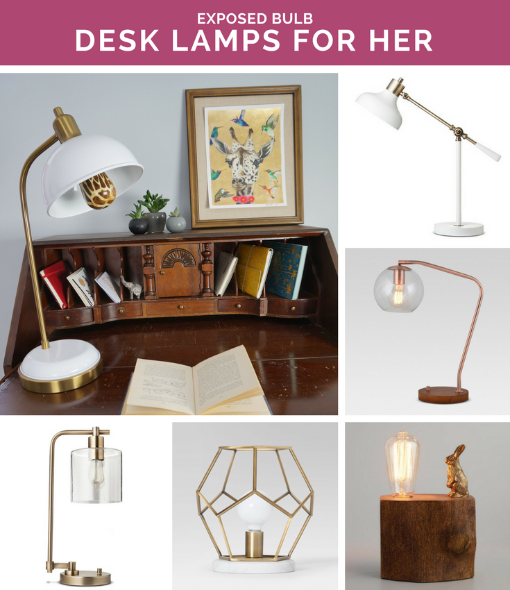 Desk Lamp Picks For Her: Perfect for Your Printed Light Bulb