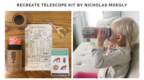 Relamp Recreate DIY Telescope Project Featuring Illustrations by Nicholas Moegly