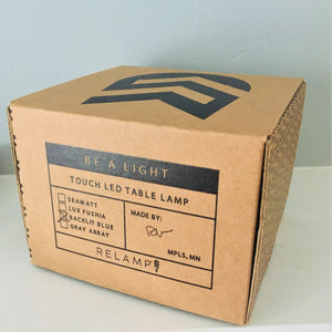 Relamp be a light table lamp box signed by minnesota maker Rob
