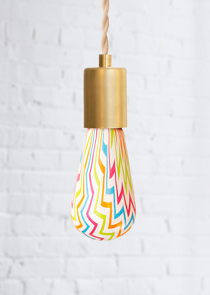 Chevron patterned light bulb for fun decorating unlit