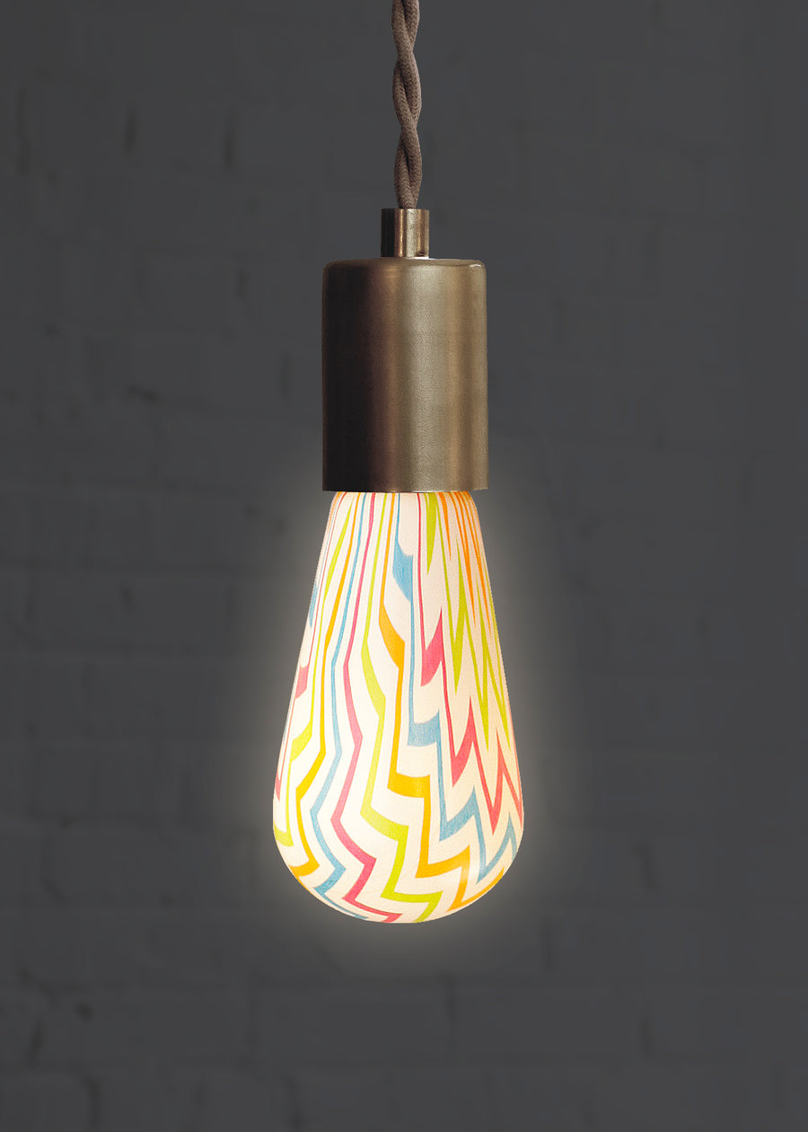 Chevron light bulb for fun lighting design lit