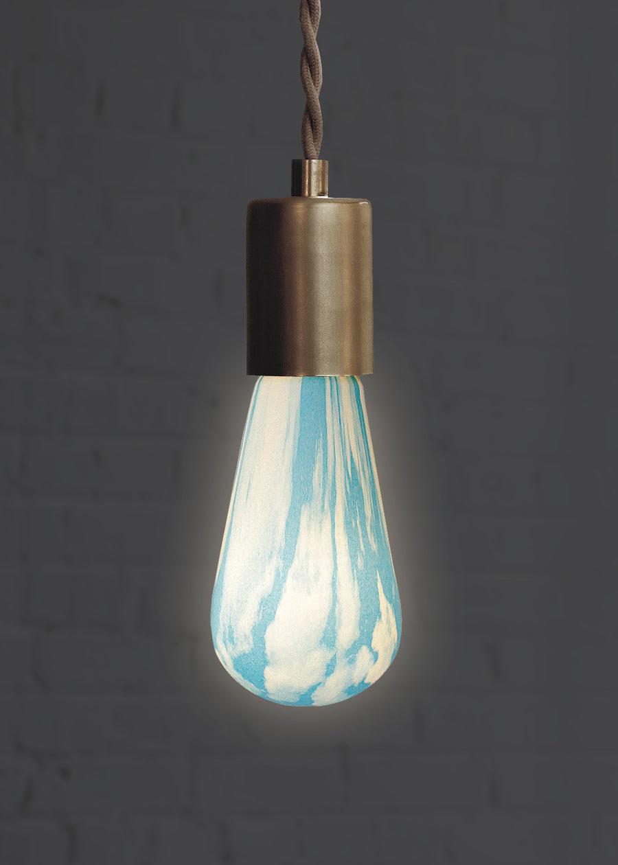 Clouds light bulb for creative lighting lit