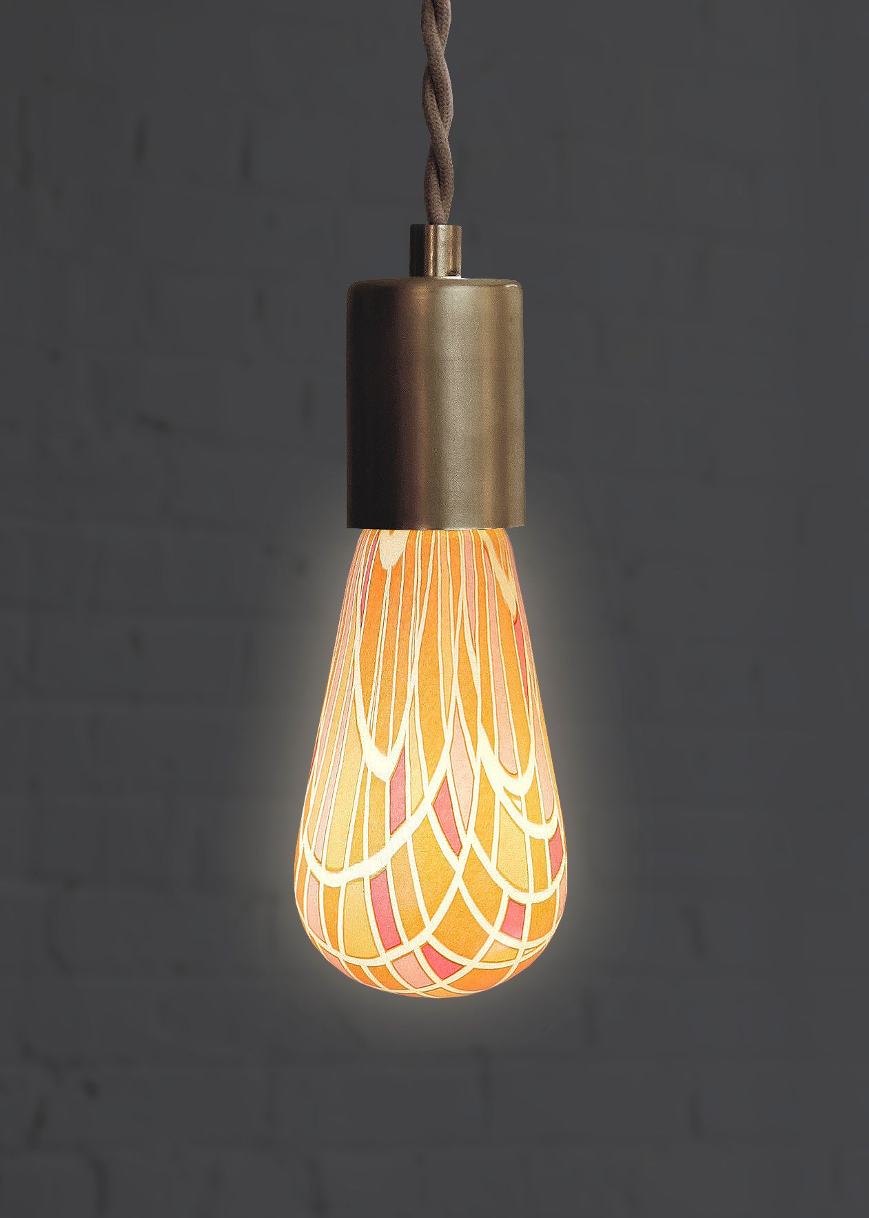Stained Glass Artisan Light Bulb By Relamp Made In The Usa Relamp