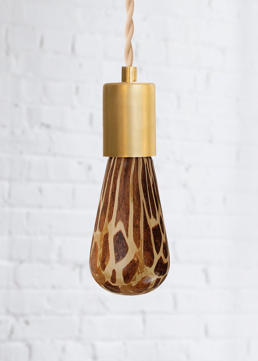 Giraffe animal print decorative light bulb turned off