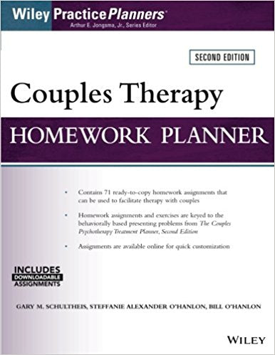 Couples Therapy Homework Planner 2nd Edition